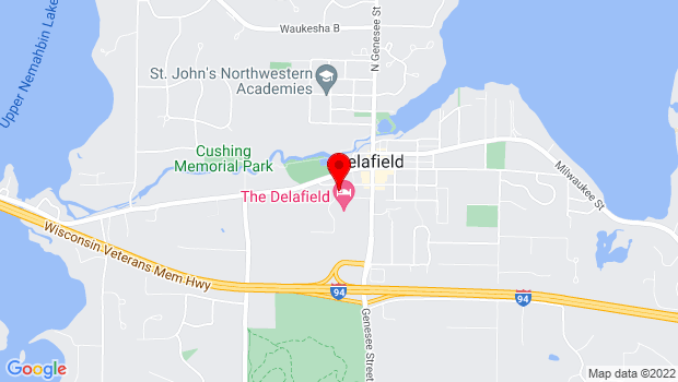 Google Map of 426 Wells St., Delafield, WI 53018