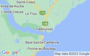 Map of Camping Tadoussac