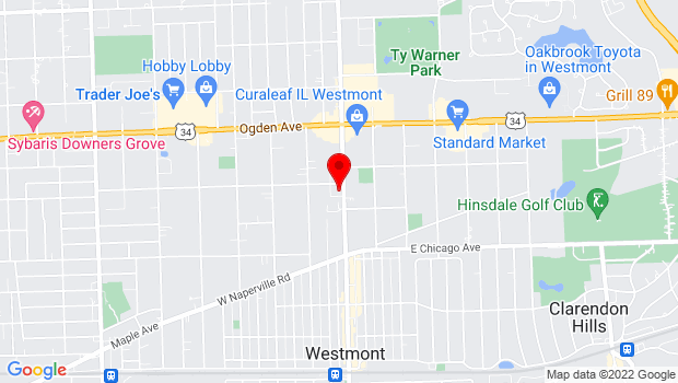 Google Map of 428 N Cass Ave, Westmont, IL