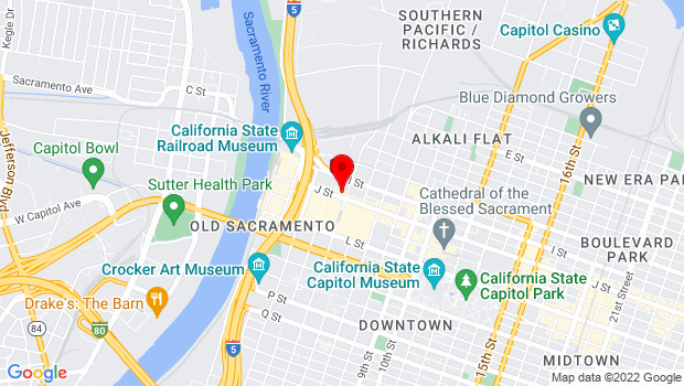 Google Map of 429 J Street, Sacramento, CA 95814