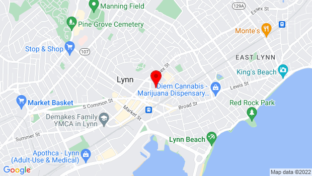 Google Map of 43 Buffum St., Lynn, MA 01901