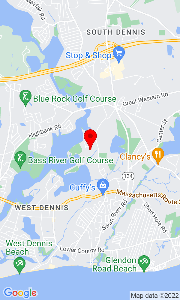 Google Map of43 Cove Road West Dennis MA 02660