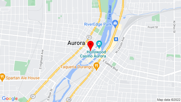 Google Map of 43 W Galena Blvd, Aurora, IL 60506
