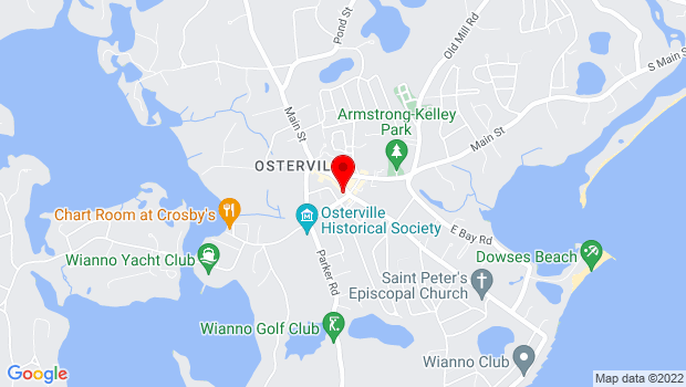 Google Map of 43 Wianno Avenue, Osterville, MA 02655