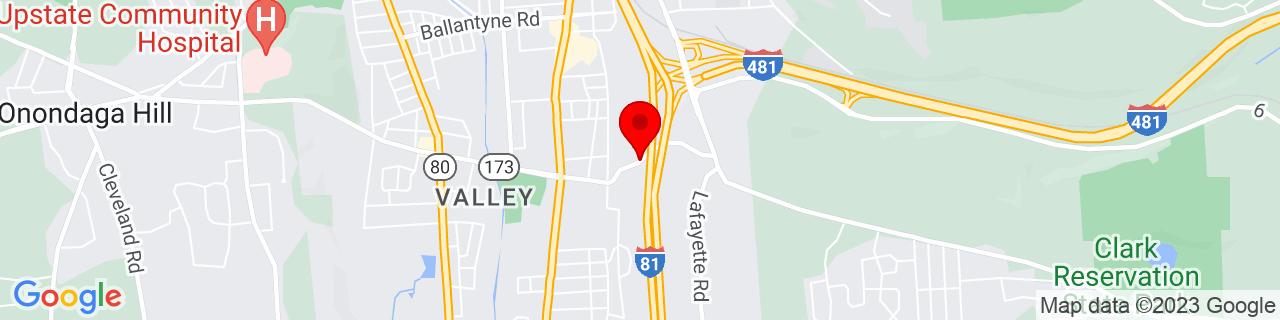 Google Map of 43.0017071, -76.1359093