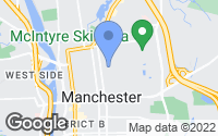 Map of Manchester, NH