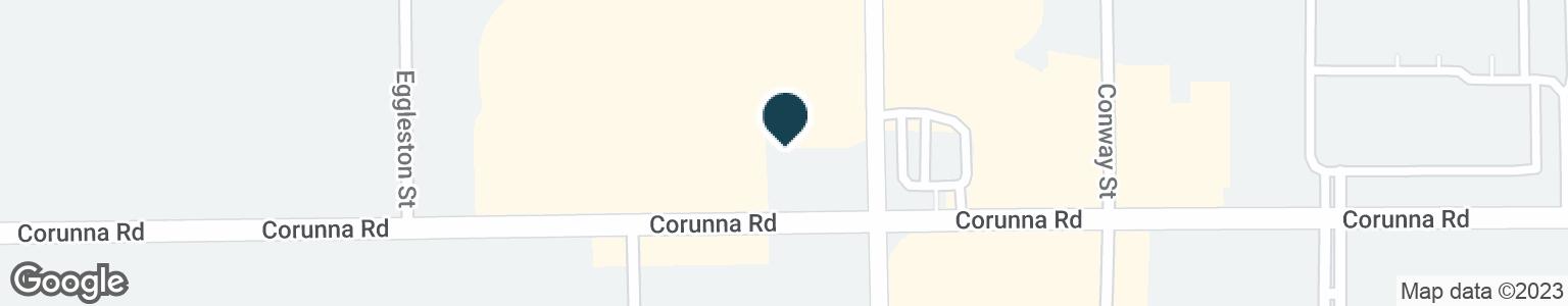 Google Map of5020 CORUNNA RD