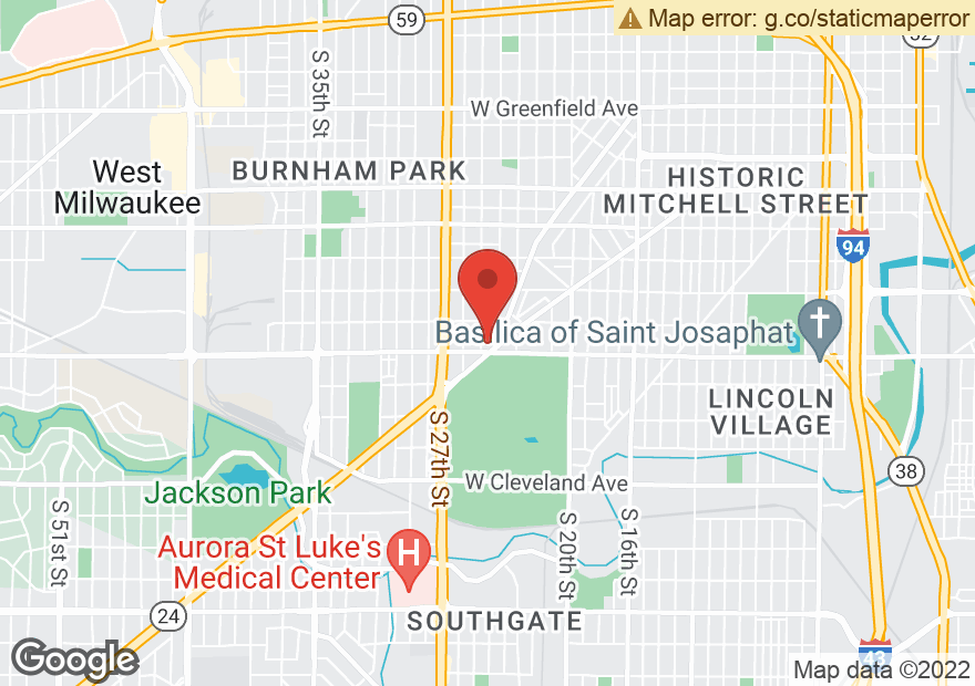 Google Map of 2410 W FOREST HOME AVE