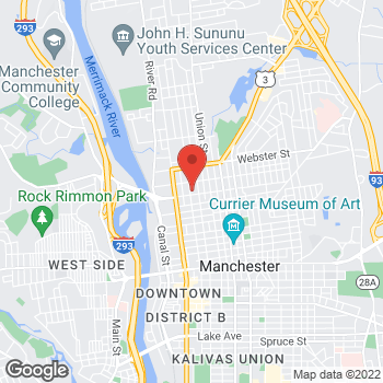 Map of Christine Kannler, MD at 721 Chestnut Street, Manchester, NH 03104