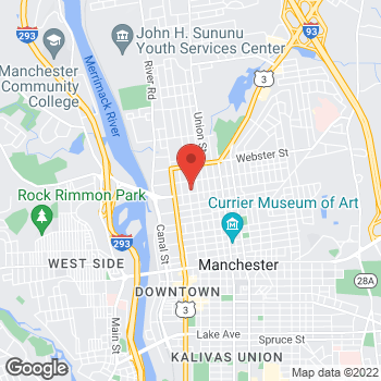Map of Michelle Dominguez, NP at 721 Chestnut Street, Manchester, NH 03104