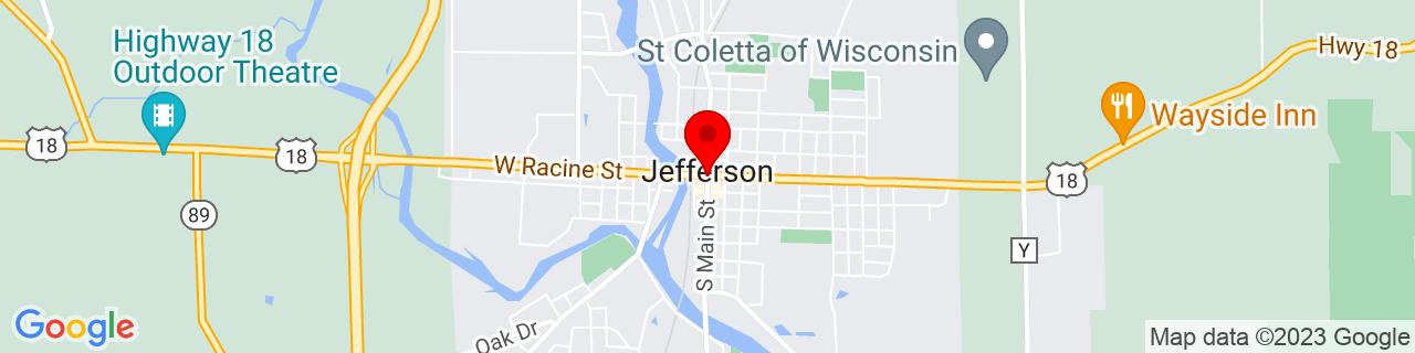 Google Map of 43.0052671, -88.8072789