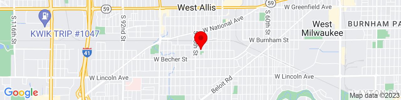 Google Map of 43.0081478, -88.00589889999999