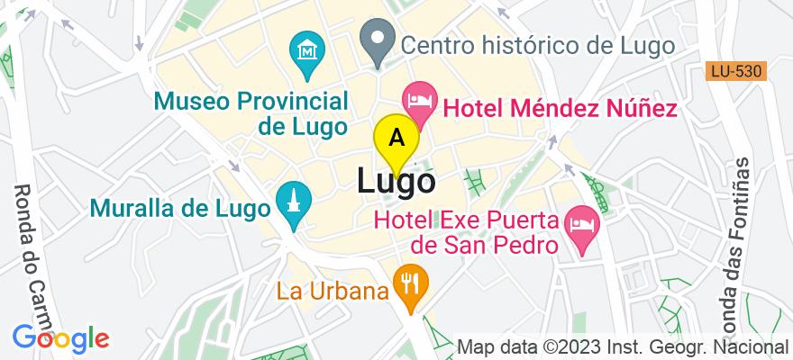 situacion en el mapa de . Direccion: Calle Conde nº1 Bajo, 27003 Lugo. Lugo