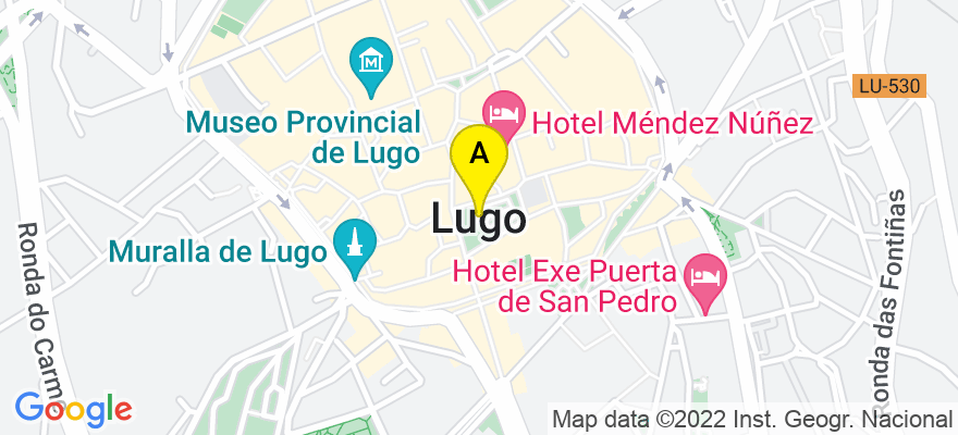 situacion en el mapa de . Direccion: C/Pena do Rei - nº 4 - Ent Izq, 27002 Lugo. Lugo
