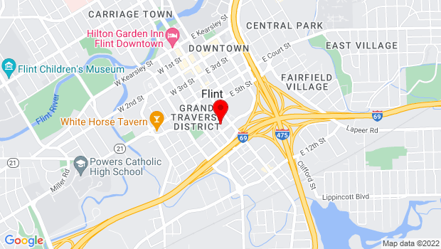 Google Map of 1101 Beach Street, Flint, MI , Flint, Micigan 48503