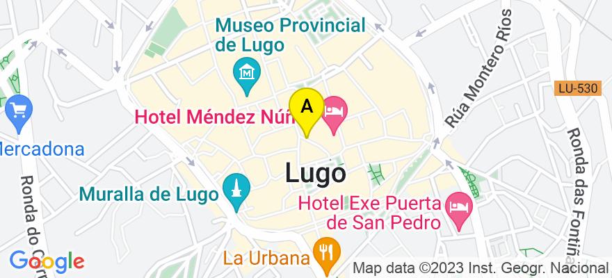 situacion en el mapa de . Direccion: Calle Doctor Castro,20-22,2º A, 27001 Lugo. Lugo