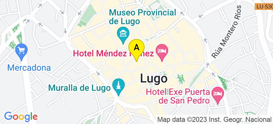 situacion en el mapa de . Direccion: Plza Armanyá, nº 17, 1º D, 27001 Lugo. Lugo