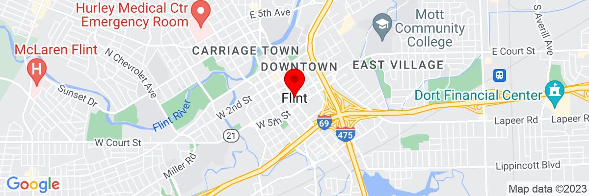 Google Map of 43.0125275,-83.687456111111