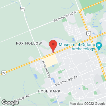 Map of Tim Hortons at 1255 Fanshawe Park Rd West, London, ON N6G 5B4