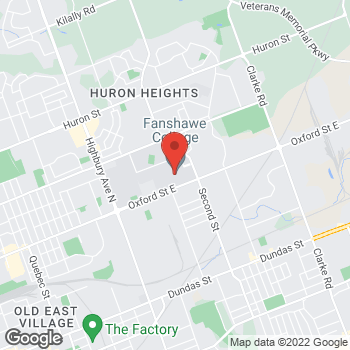 Map of Tim Hortons at 1460 Oxford St E, London, ON N5V 1W2