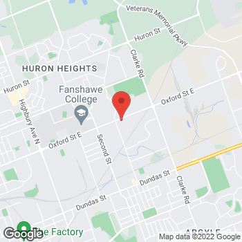 Map of Tim Hortons at 1765 Oxford St East, London, ON N5V 2Z6