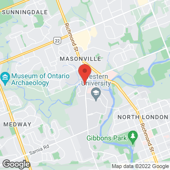 Map of Tim Hortons - Temporarily Closed at 1421 Western Rd, London, ON N6G 4W4