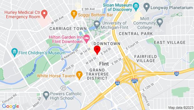Google Map of Flint, MI 48502