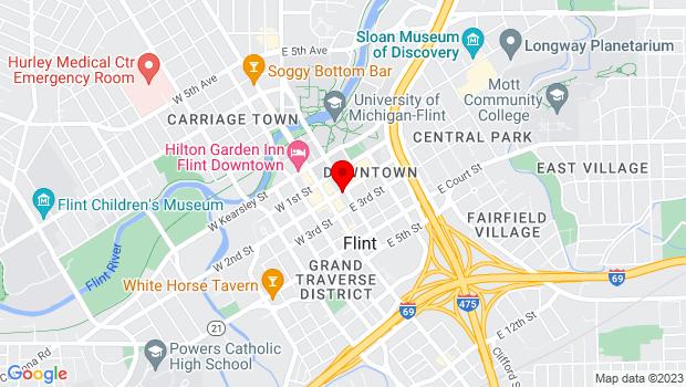 Google Map of 140 E. 2nd Street, Flint, MI 48502