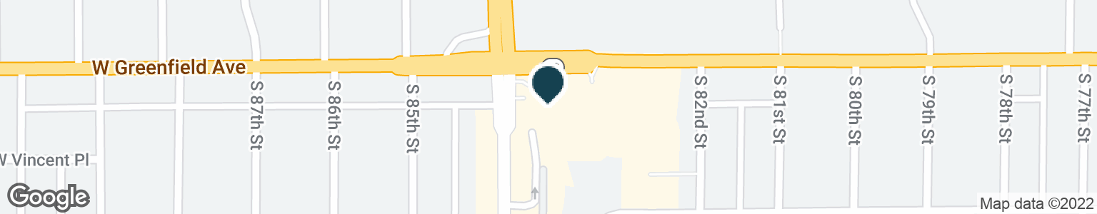 Google Map of8333 W GREENFIELD AVE