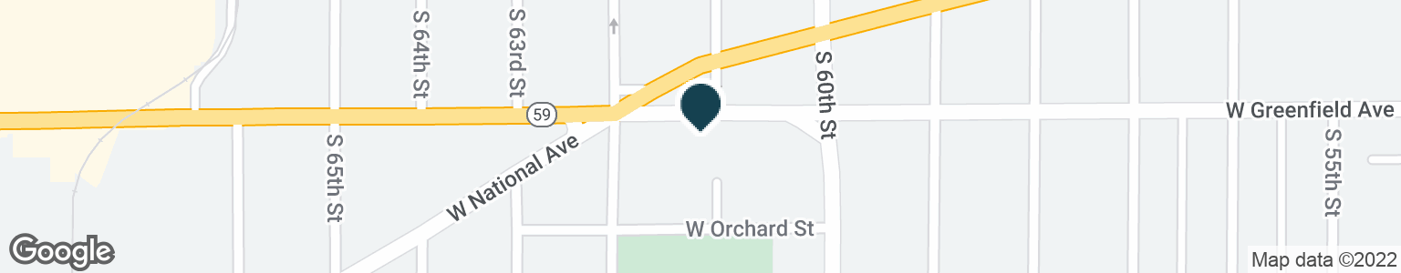 Google Map of6101 W GREENFIELD AVE