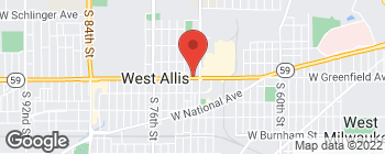 Map of 7046 W Greenfield Ave in West Allis