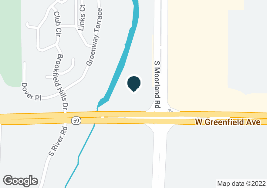 Google Map of15650 W GREENFIELD AVE