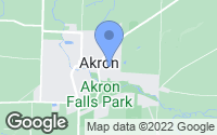 Map of Akron, NY