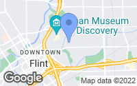 Map of Flint, MI