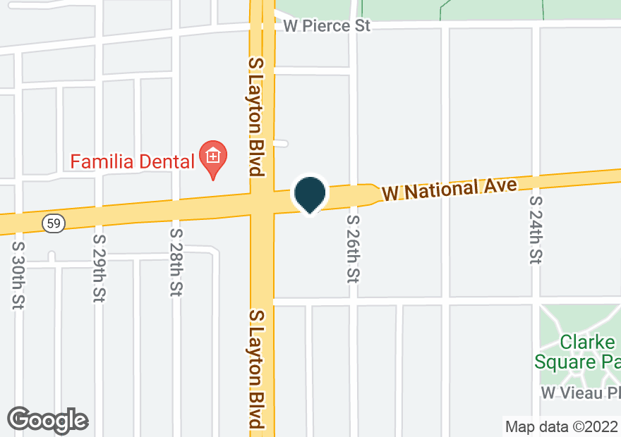 Google Map of2625 W NATIONAL AVE