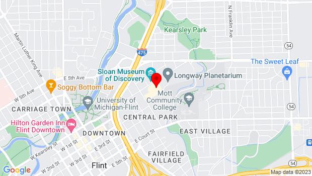 Google Map of 1120 E. Kearsley, Flint, MI 48503
