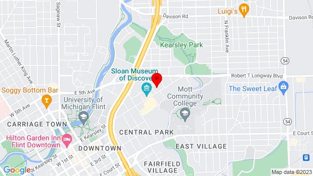 Google Map of 1241 E. Kearsley Street, Flint, MI 48503