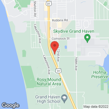 Map of Speedy Café at 17281 Hayes St, Grand Haven, MI 49417