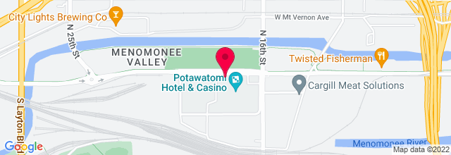 Map for Potawatomi Casino - Northern Lights Theater