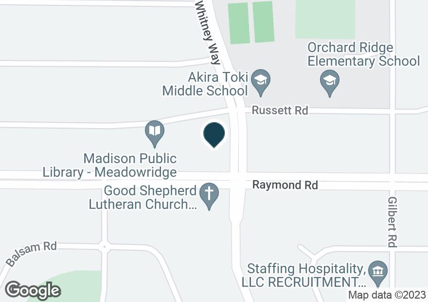 Google Map of5702 RAYMOND RD