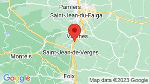 Carte de localisation du centre de contrôle technique SAINT JEAN DE VERGES