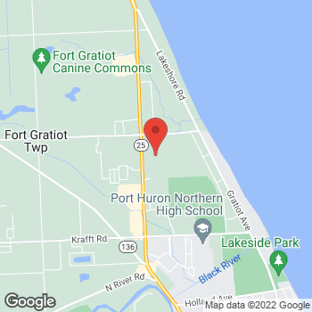 Map of location-map at 4350 24th Ave, Fort Gratiot, MI 48059