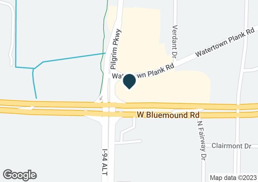 Google Map of15350 W BLUEMOUND RD