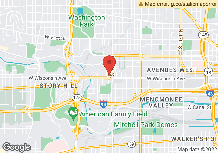 Google Map of 3522 W WISCONSIN AVE