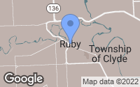 Map of Ruby, MI