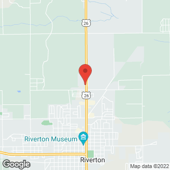 Map of Taco Bell at 1812 North Federal Blvd, Riverton, WY 82501