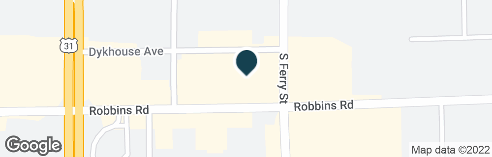 Google Map of1045 ROBBINS RD
