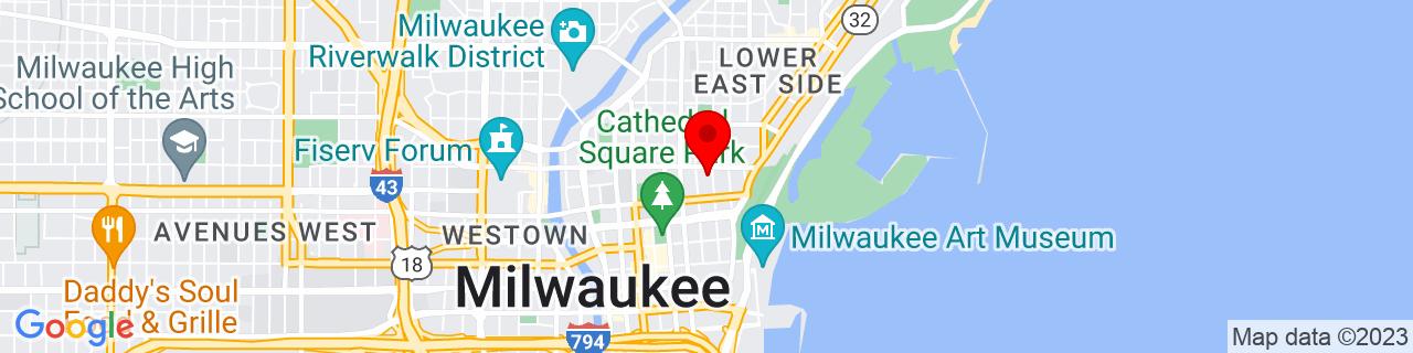 Google Map of 43.0452093, -87.9013737