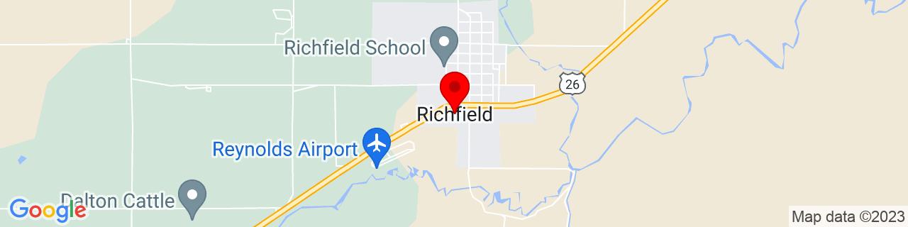 Google Map of 43.0485171, -114.1555907