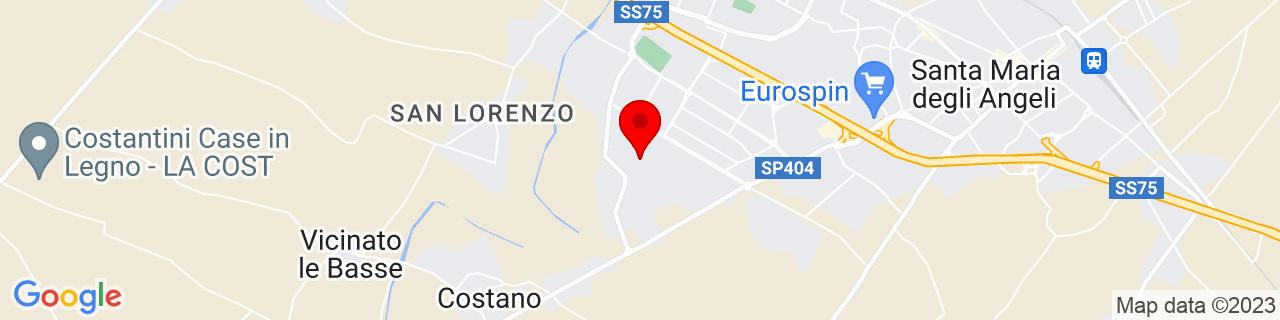 Google Map of 43.052833917627936, 12.54638671875